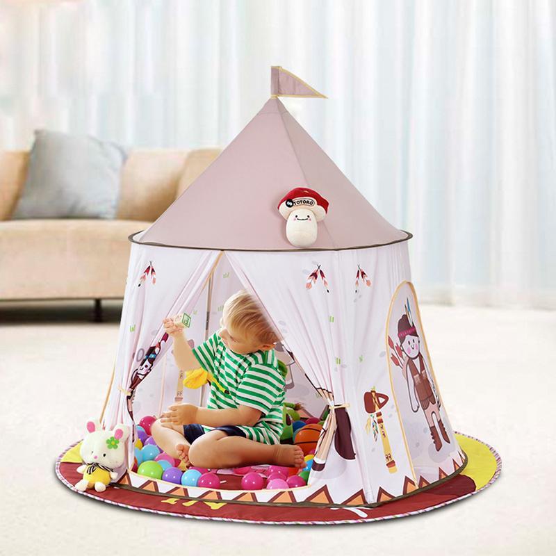 Enfants de Simple Construire Sans Fond Tente Intérieure Bébé Famille Jeu Indépendant Maison Indien Yourte Tente Bébé Maison de Jeu