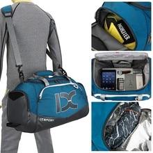 Men Women Gym Bags Dry Wet Seperated Waterproof Handbag 40L Single Shoulder Bag for Football Training Travel Luggage Bags