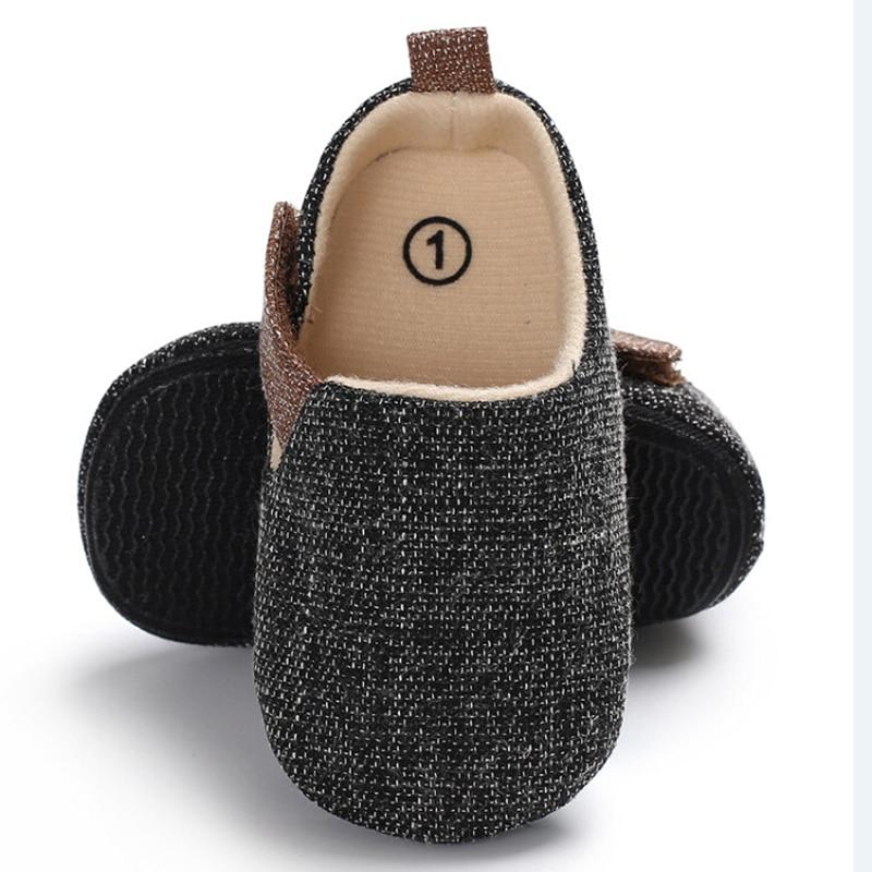 Newborn to 18 Months Baby Boy Soft Sole Crib Shoes Sneaker Prewalker