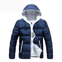 2019 Contract Color New Arrival Fashional Lowest Price Men's Cotton Coat Soft Hooded Man Winter