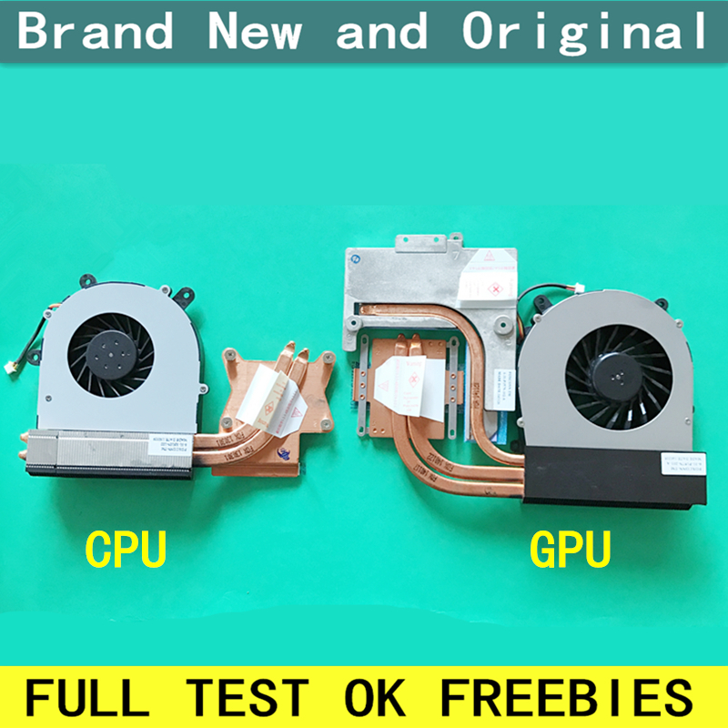 New notebook CPU fan with heatsink radiator copper tube module for CLEVO P151SM P150HM P170HM P157ms