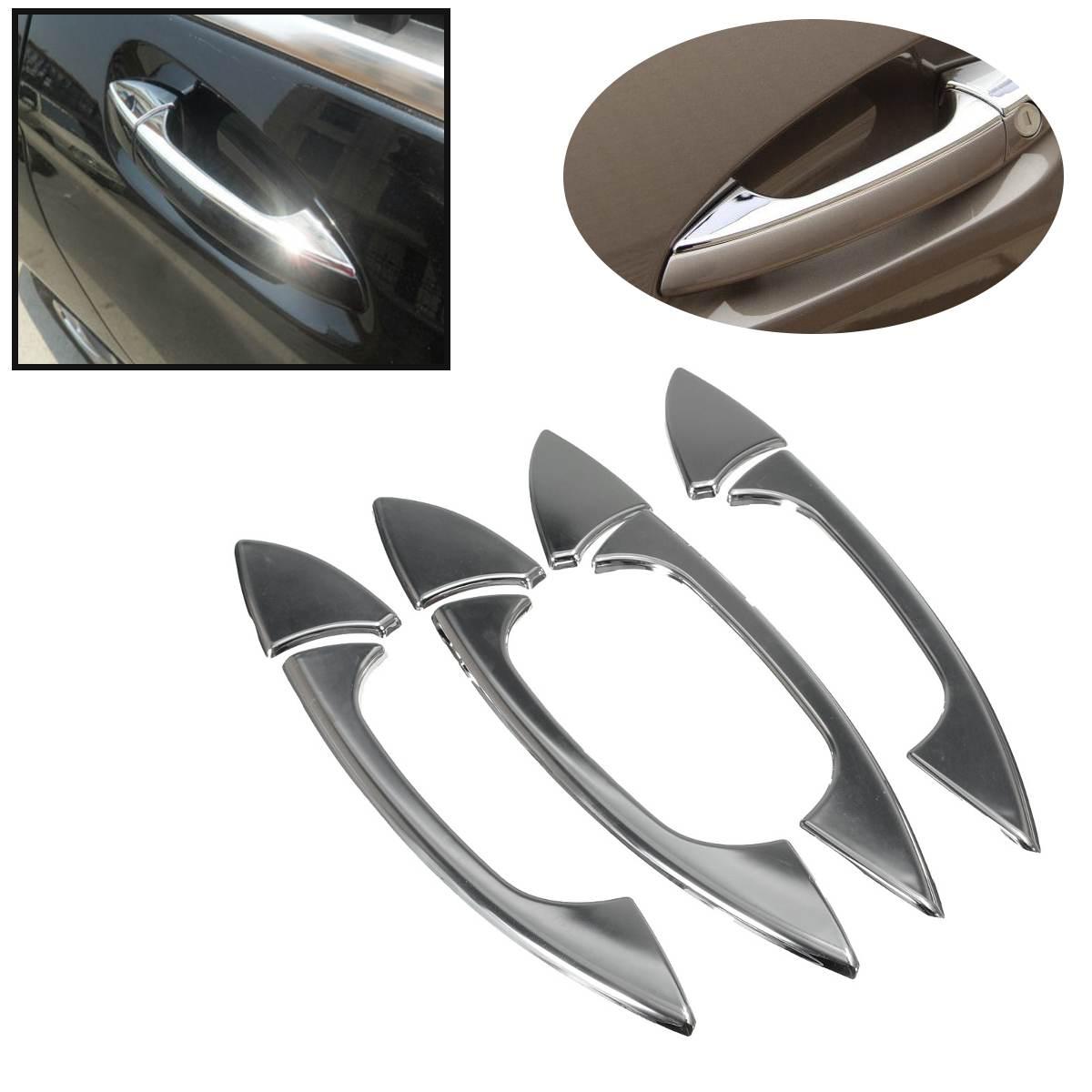 For Mercedes Benz B C E GLK ML GLK Class W204 W212 X204 W166 W117 W218  W246 2006 2011 8pcs/set Chrome Door handle cover trim Car Stickers     - title=