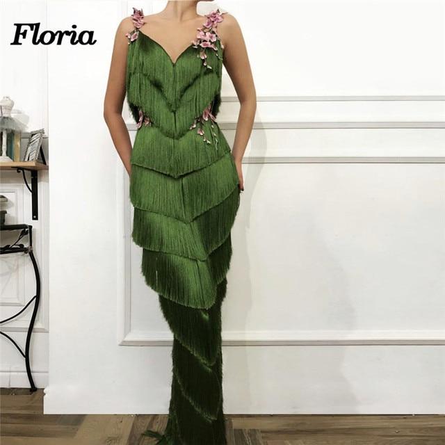 Robe de soiree Aibye African Evening Dress For Weddings Muslim Turkish Dark Green  Long Formal Party Dress Abendkleider Prom Gown d94bd68360d1