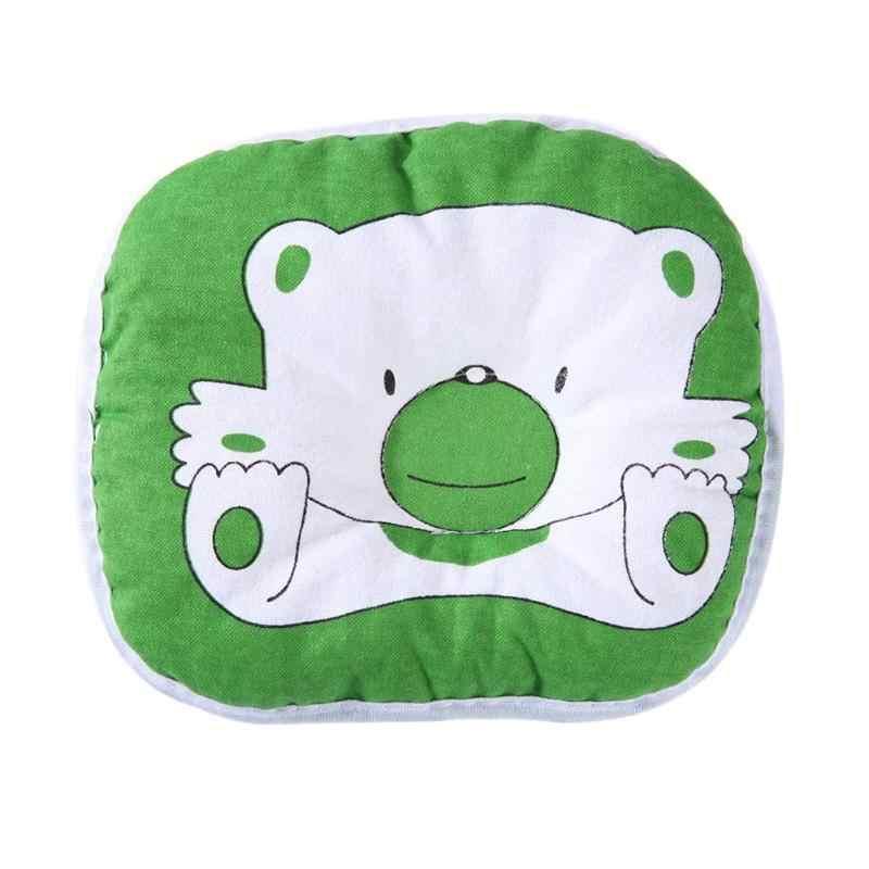 Bebê nascido crianças cabeça dar forma travesseiro apoio urso padrão do bebê travesseiro almofada evitar plana infantil recém-nascido travesseiro cama nova