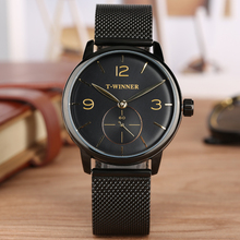 цена на Stainless Steel Mechanical Watch Arabic Digital Mechanical Watches Hand-wind Business Clock Top Brand Luxury reloj masculino
