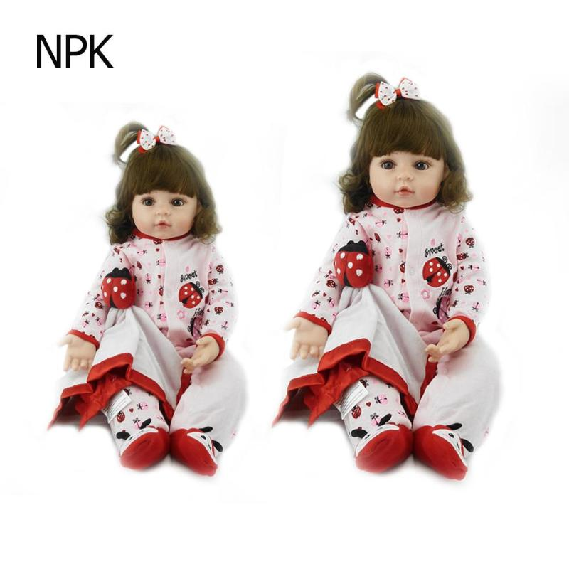 NPK Baby Doll Toy Silicone Reborn Realistic Fashion Baby Dolls For Princess Children Birthday Gift Reborn Baby Doll Image DollsNPK Baby Doll Toy Silicone Reborn Realistic Fashion Baby Dolls For Princess Children Birthday Gift Reborn Baby Doll Image Dolls