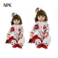 NPK Baby Doll Toy Silicone Reborn Realistic Fashion Baby Dolls For Princess Children Birthday Gift Reborn Baby Doll Image Dolls
