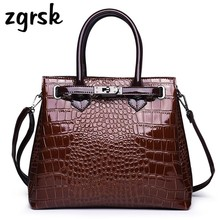 Fashion Luxury Handbags Brand Women Bags Designer Bag Crocodile Leather Shoulder Bag Handbag Ladies Messenger Tote Women Bag qiwang women design bag brand designer luxury women fashion handbag bags fashion luxury ol tote bag for office women