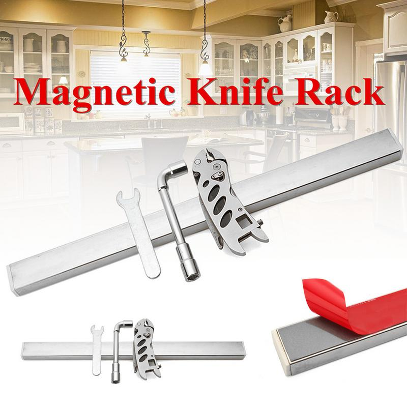 40cm Strong Magnetic Ultra Light Stainless Steel Kitchen Knife Storage Rack Adhesive Magnetic Knife Holder Home Rack