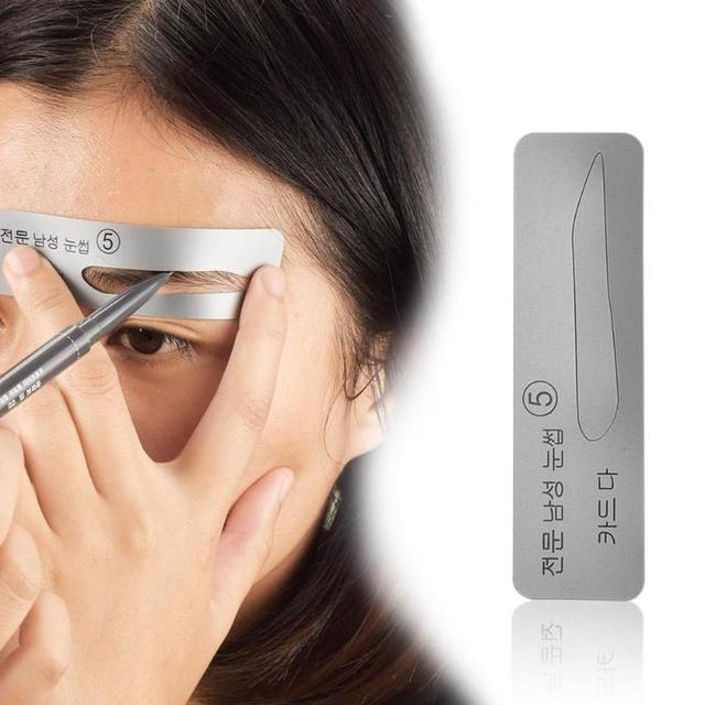 5pcs Reusable Eyebrow Stencil Eye Brow Mold Makeup Tools Eyebrow Shapeing Kits Templates Shaper 2