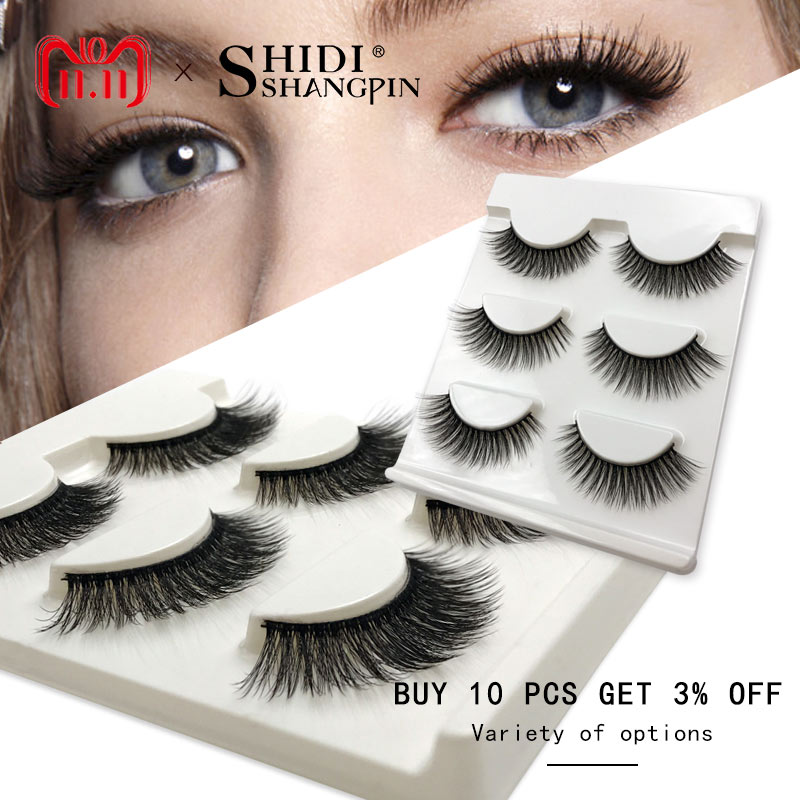 10ad82d8f53 [+] New 3 pairs natural false eyelashes fake lashes long makeup 3d mink  lashes extension eyelash mink eyelashes for beauty #X11-in False Eyelashes  from ...