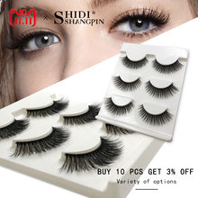 New 3 pairs natural false eyelashes fake lashes long makeup 3d mink lashes extension eyelash mink eyelashes for beauty #X11