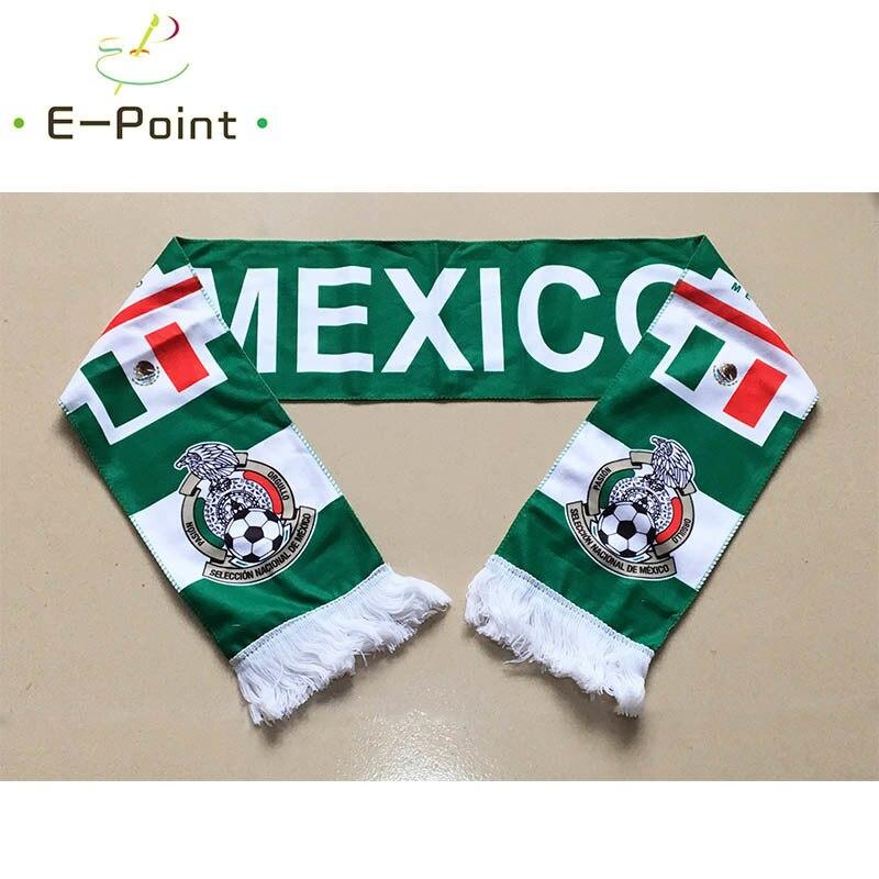 145*16 cm Größe Mexiko National Football Team Schal für Fans 2018 Fußball Wm Russland Doppel-konfrontiert samt Material