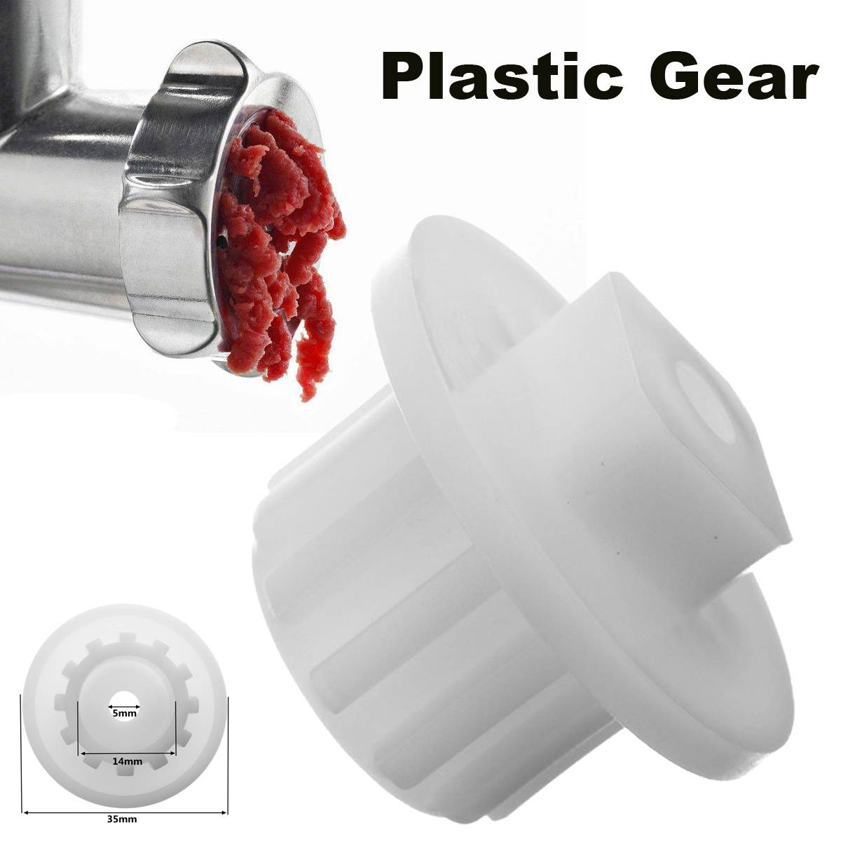 2019 New Arrival Meat Grinder Parts Plastic Gear Fit For Zelmer HR7752/HR7754/HR7768/HR2724/HR2725 Kitchen Appliance Parts