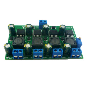 Image 2 - 3A 4 ערוצים מרובים מיתוג אספקת חשמל מודול 3.3V 5V 12V מתכוונן מתכוונן פלט DC DC צעד למטה באק ממיר לוח