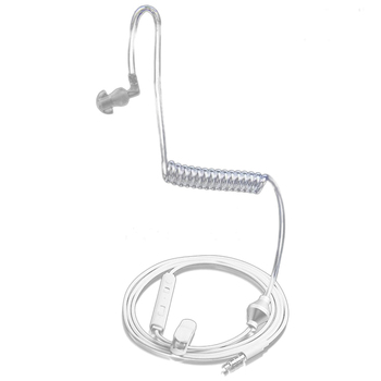 Ear Hook single earphone Anti Headphone Radiation Air Spring Duct Earhook headset with mic for iphone sansung all phone