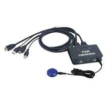 2 Порты HDMI KVM переключатель с кабели для подключения устройств USB к ПК ноутбук компьютер
