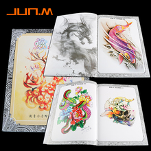 A4 104 Pages Tattoo Book Ornament Flower Animal Tattoo Stencils Tattoo Body Art Accessories Suitable For Men Women