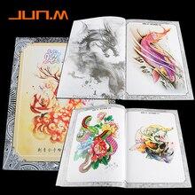 A4 104 דפים קעקוע ספר קישוט פרח בעלי החיים קעקוע שבלונות קעקוע גוף אמנות אביזרי מתאים לגברים נשים