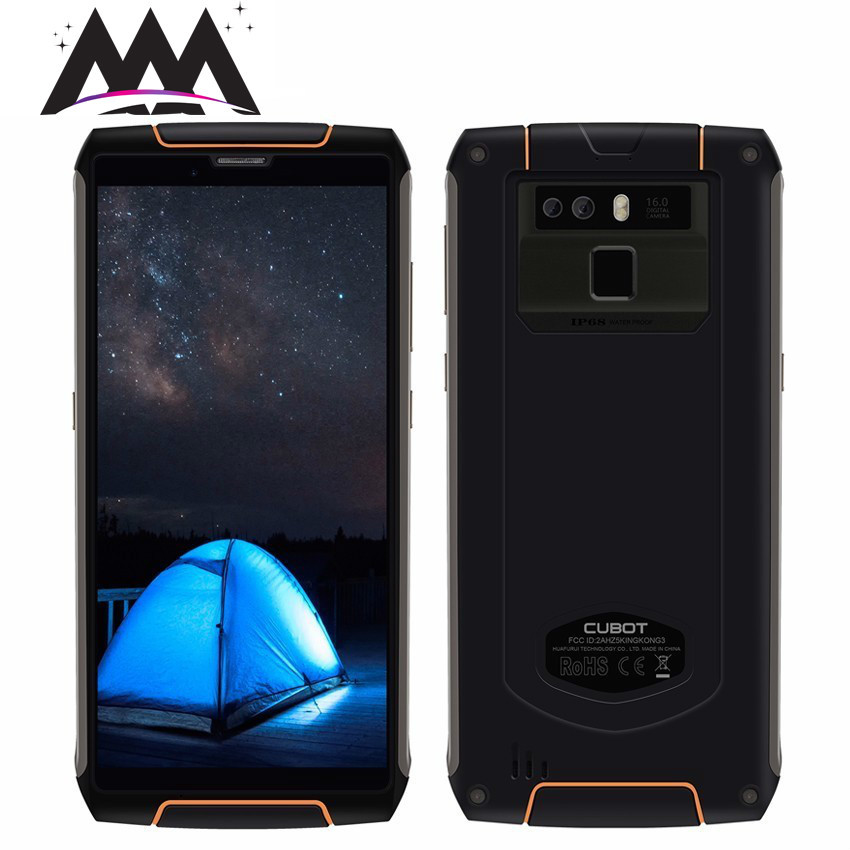 Cubot King Kong 3 IP68 Waterproof shockproof mobile phone <font><b>6000mAh</b></font> Android 8.1 4GB + 64GB MT6763T Octa Core 5.5'' 4G <font><b>Smartphone</b></font> image