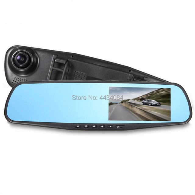Ouchuangbo HD Dual Lens 4.3 inch rear view DVR recorder mirror G-sensor