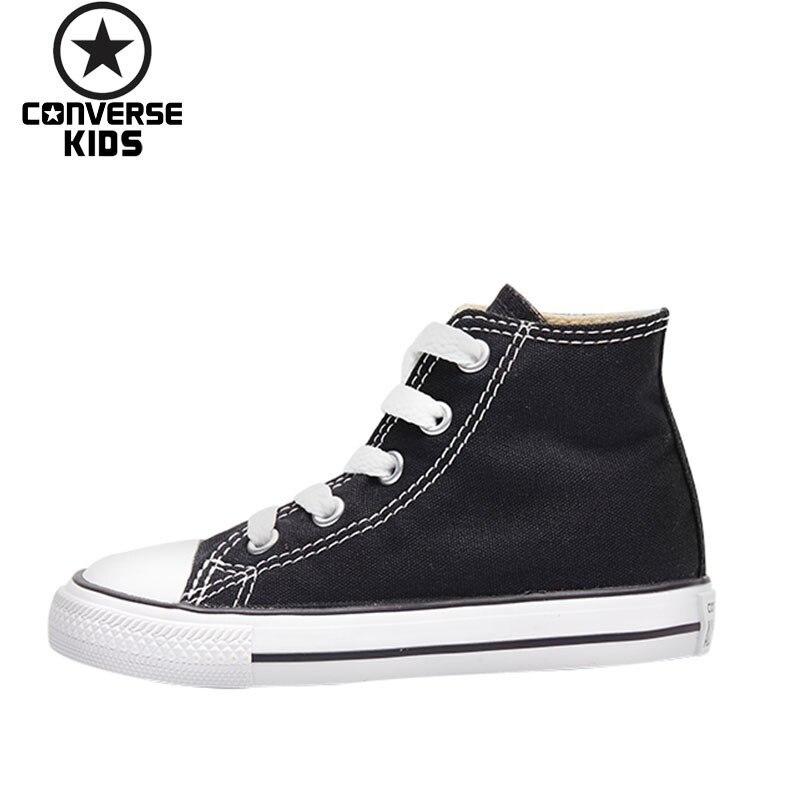 CONVERSE детская обувь Классические высокие парусиновая дышащая обувь на шнуровке детская обувь # 7J231C