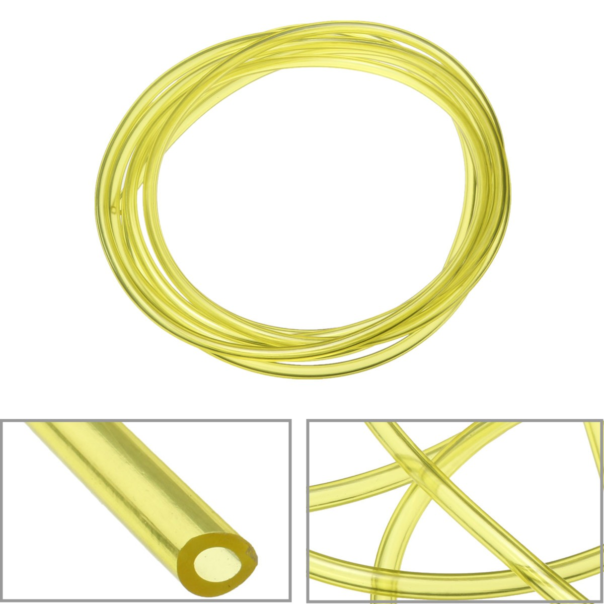 3 Meter Yellow Tygon Petrol Fuel Gas Line Pipe Hose  Oil And Gas Resistant For Trimmer Chainsaw Saw Blowerfor Chainsaws Blowers