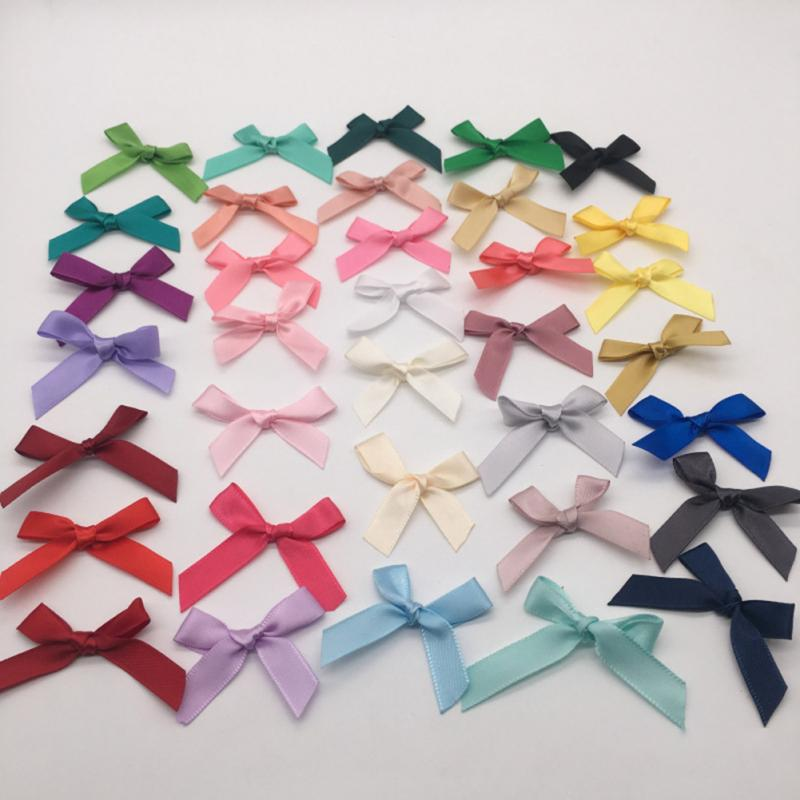 100 pcs Bow Christmas Tree Decoration Xmas Ornament Bowknot Party Home Wedding Decor