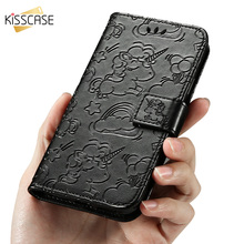 KISSCASE For Redmi 3S 4A Note 5 Pro 4X Case Leather Flip Unicorn Phone Cover Xiaomi Mi 5C 5S 5X A1 Wallet Stand New Fashion