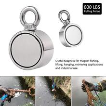 Strong Double - Sided Magnetic Ring Salvage Magnet Hook Dual Side Fishing Magnets