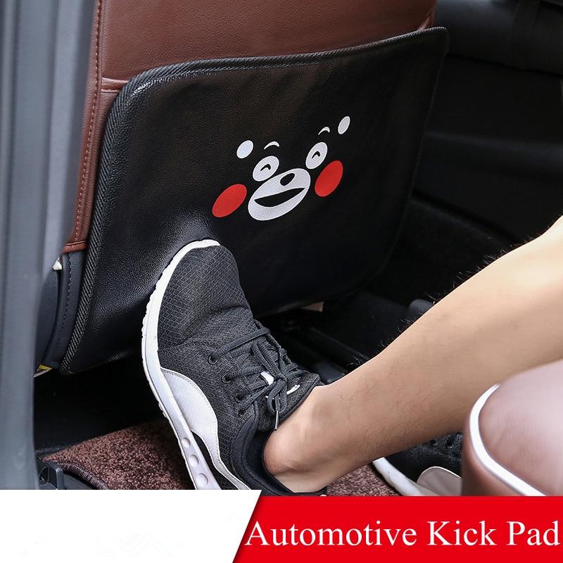 44x34cm Car Seat Back Cartoon Kick Pad Protector Cover PU Leather Waterproof Child Kick Anti Dirty Protection Mat Car Styling