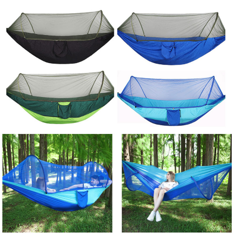 Multi Purpose Hanging Bed High Strength Camping Hammock for Outdoor Leisure