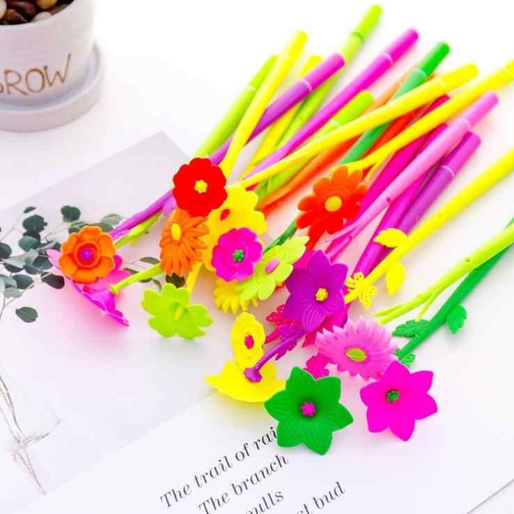 Ellen Brook 1 Stück Silikon Bunte Kreative Nette Blume Gel Stifte für Schreiben Schreibwaren Büro Schule Liefert Geschenk
