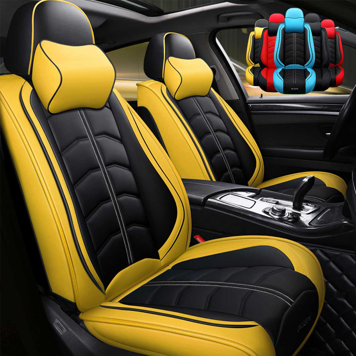 Driving Luxury Car: Universal Luxury Car Seat Cover Leather Cotton Breathable