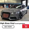 High-end glossy Vinyl wrap Nando grijs vinyl wrapping Vierde generatie lage initiële tack lijm 5 m/10 m/20 m