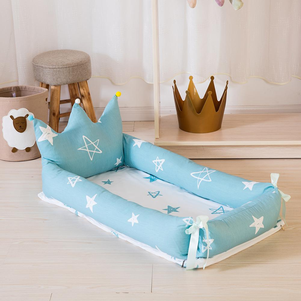 Kidlove Baby Nest Detachable Simulating Sleep Bed Crown Design Newborn Babynest Travelling Cushion Bed