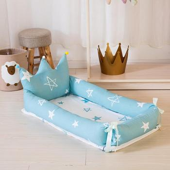 Kidlove Baby Nest Detachable Simulating Sleep Bed Crown Design Newborn Babynest Travelling Cushion Bed