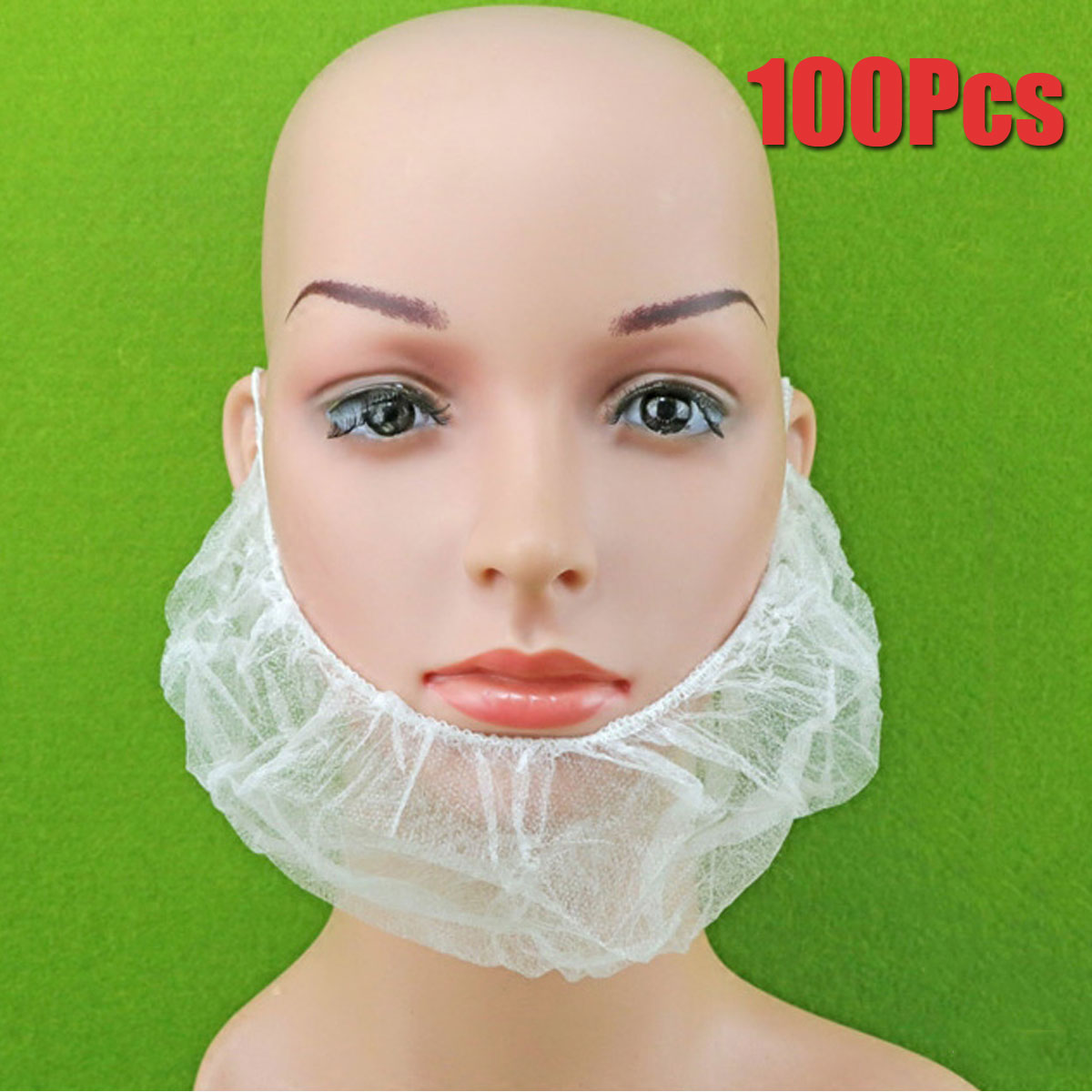 2019 100Pcs Disposable Beard Mask Snood Cover Catering Food Safe Beard Mask For Food Industry Restaurants Cooking