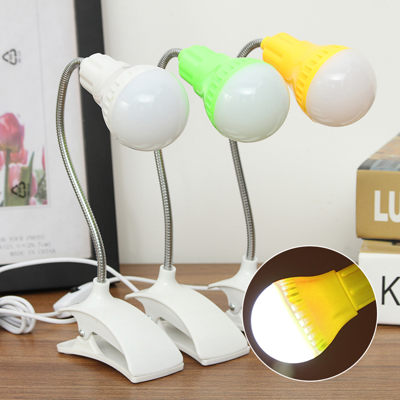 Good Portable 360 Adjustable Usb Plug Led Clamp Night Light Compact Bed Desk Edge Can Be Repeatedly Remolded.