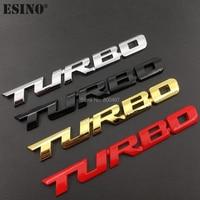 Nowy Car Styling turbo boost samochodu ładowanie zwiększenie 3D Metal Chrome stop cynkowy 3D godło naklejana etykieta naklejka akcesorium samochodowe w Naklejki samochodowe od Samochody i motocykle na