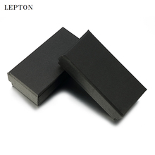 Lepton Black Paper Tie Clips Boxes 15 PCS/Lots High Quality Black matte paper Jewelry Boxes Cuff links Carrying Case wholesale