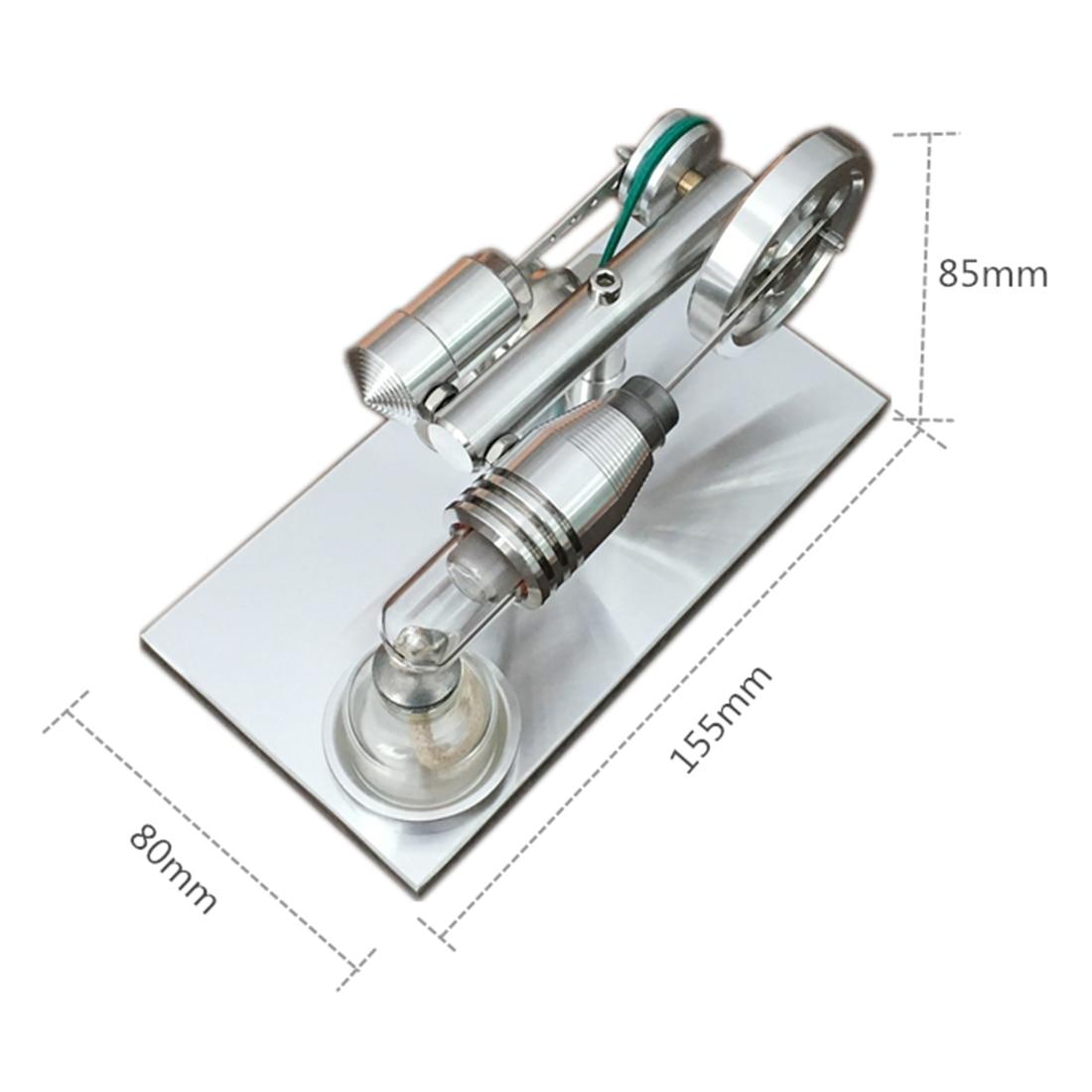 Hoge Kwaliteit Quartz Cilinder Stirlingmotor Micro Generator Model Building Kits Speelgoed Voor Kinderen - 3