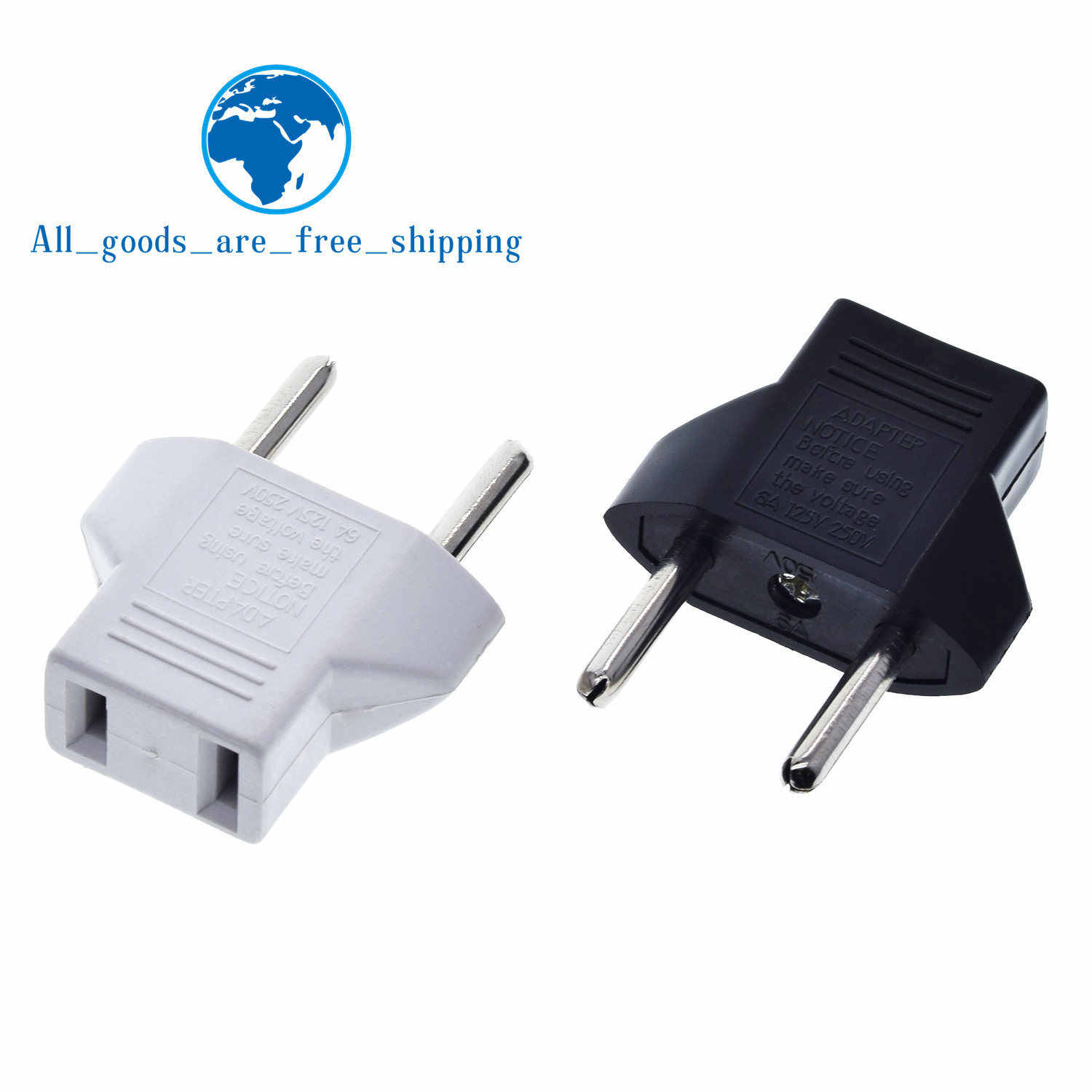Tzt Universele Ons Om Eu Plug Usa Om Euro Europa Travel Wall Ac Power Charger Outlet Adapter Converter 2 Ronde socket Input Pin