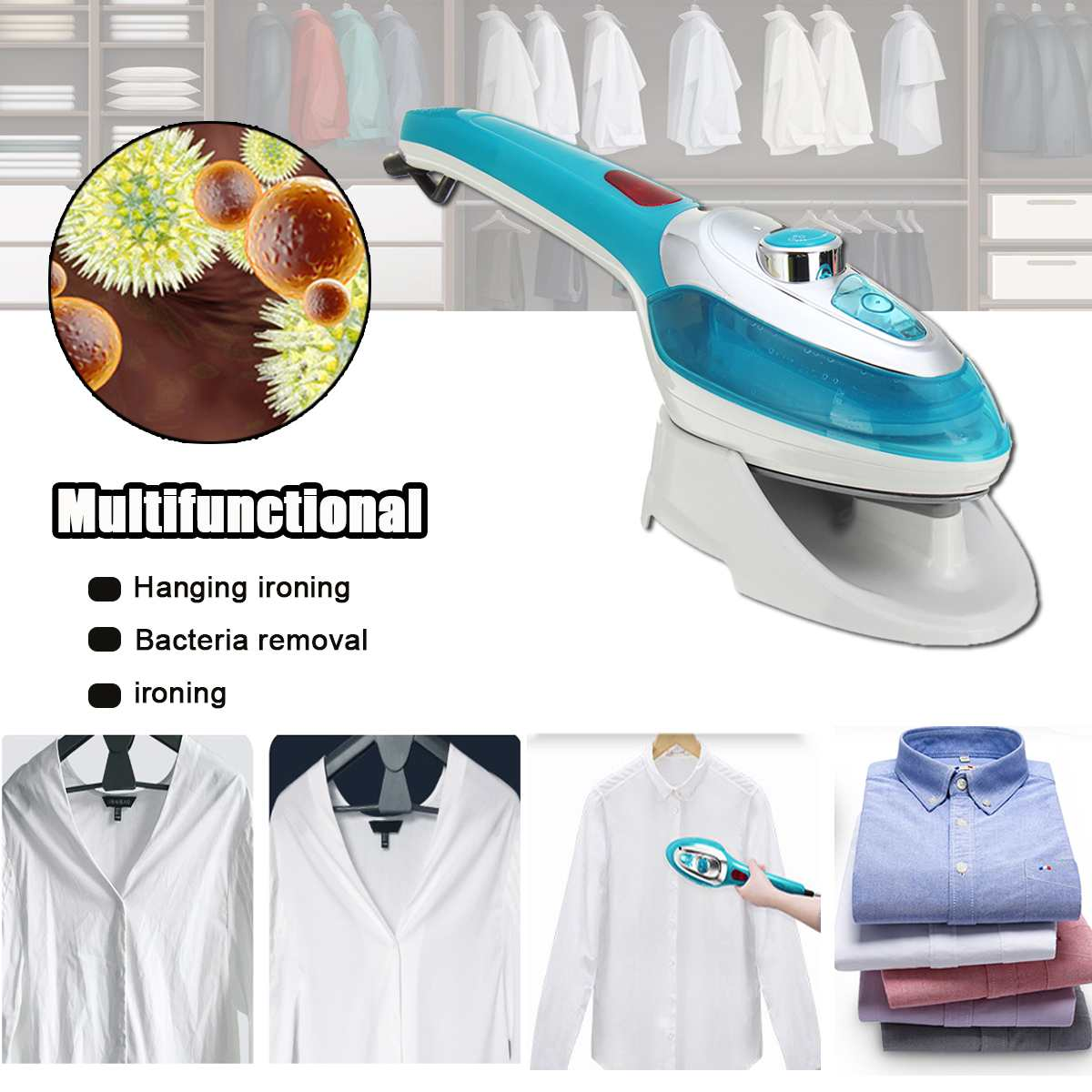 220V 1000W Portable Handheld Garment Steamers Mini Household Appliances Electric Steam Irons Brushes For Underwear Steamer Iron