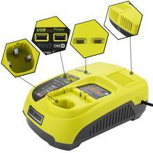3A 12 فولت 14.4 فولت 18 فولت ل Ryobi P117 بطارية قابلة للشحن شاحن بطارية حزمة أداة السلطة Ni Cd Ni mh ليثيوم أيون P110 ، P111 ، P107 ، P108