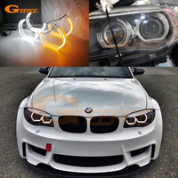 For BMW 1 Series E82 E88 E87 E81 2008 2009 2010 2011 Xenon headlight DTM M4 Style LED Angel Eye Kit Dual White Amber switchback