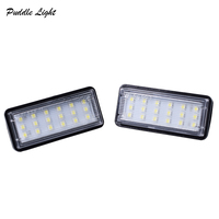 white light car 2x 18smd Car styling No Error LED White rear number plate light auto lamp For Lexus GX470 LX470 LX570 Toyota Land Cruiser 120 (1)