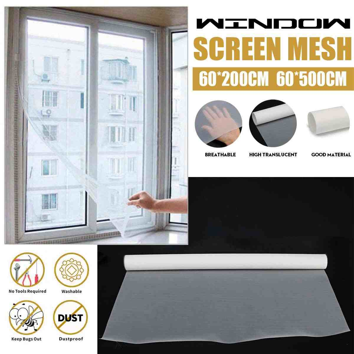 2/5m Super Dense Indoor Window Screen Mesh Dustproof Insect Fly Curtain Anti PM2.5 Dust Mosquito Door Screen Denser Net Curtain