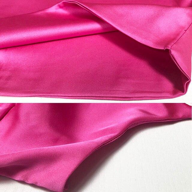 NewAsia Garden 2 warstwy satynowa sukienka seksowne kobiety Bodycon sukienka różowa obcisła sukienka świąteczna jedwabiste Mini sukienki damskie pomarańczowe