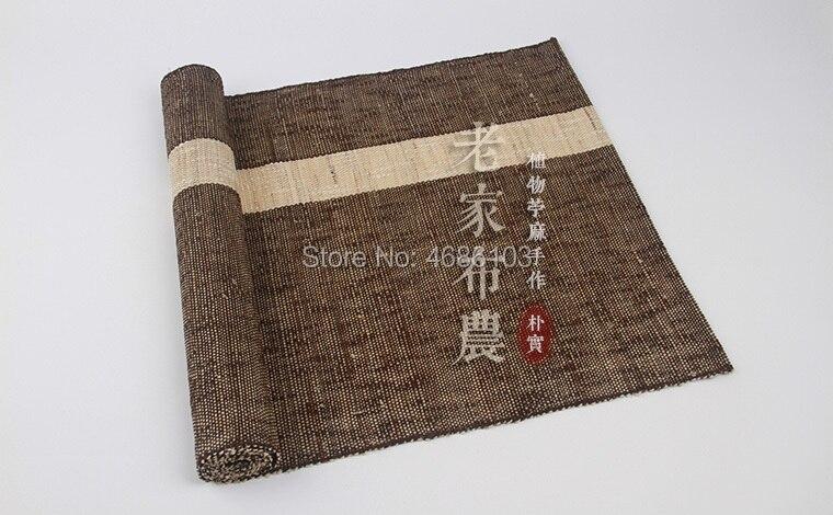 Nappe en lin japonais naturel Ramie 150x40 cm torchon couleur verte torchon thé serviettes tissu Teahouse thé Art
